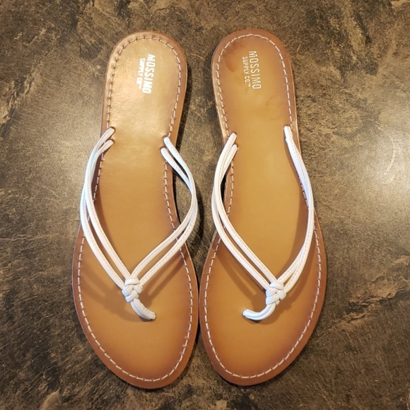 Mossimo Supply Co. Shoes - White Flip Flops